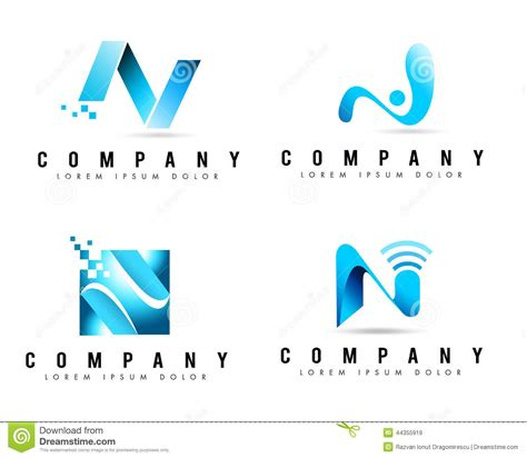 Business Letter Logo letter n logos stock illustration image 44355919