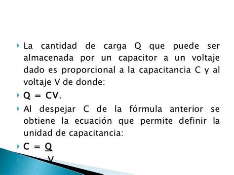 que es un capacitor formula capacitores