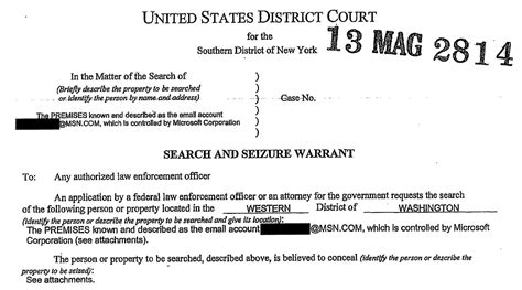 New York Arrest Warrant Search The Feds Can Read Your Email And You D Never The
