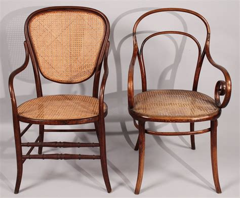 bentwood armchairs lot 184 lot of 2 thonet bentwood armchairs