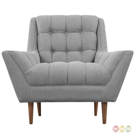Gray Tufted Armchair Response Contemporary Button Tufted Upholstered Armchair