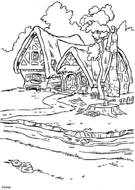 snowy house coloring pages dwarfs house coloring pages hellokids com