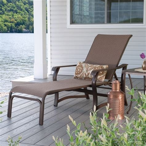 Casual Patio Furniture by St Catherine Sling Chaise Lounge