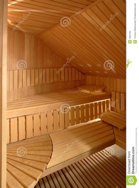 sauna interior royalty  stock photo image
