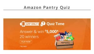 amazon quiz answer today answers added amazon pantry quiz time answer 5