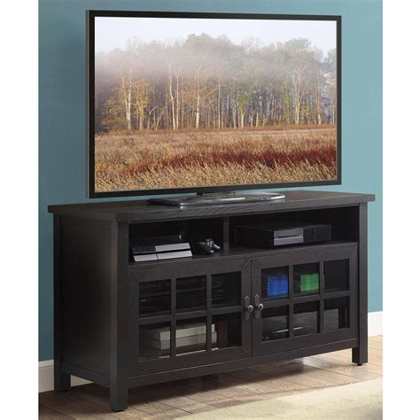 tv console table espresso table top tv console for tvs up to 60 quot indoor