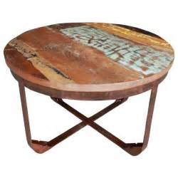 Awesome Plateau Table Ronde #4: Table-basse-ronde-metal-et-bois-recycle-couleur.jpg