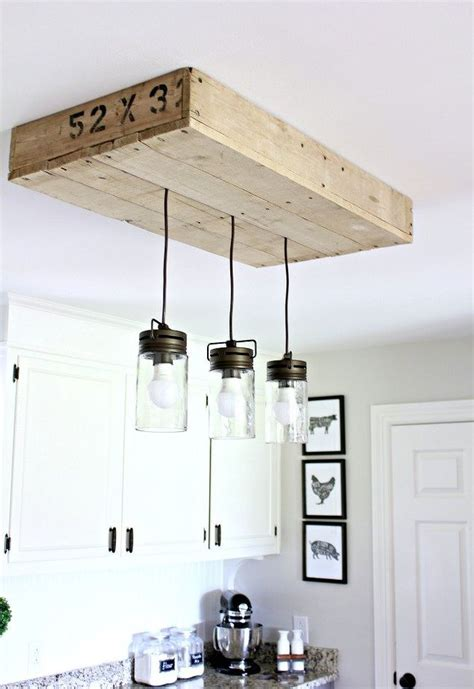 farmhouse kitchen light fixtures farmhouse pallet kitchen light box hometalk