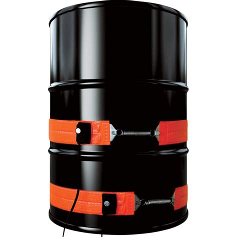 barrel warmer drum heating equipment barrelwarmercom briskheat metal drum heater 55 gallon 1 200 watt 120