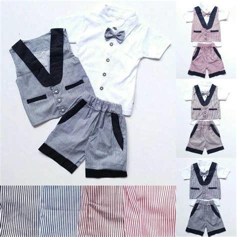 Rompi Cowok Set jual baju setelan pesta anak laki cowok rompi garis celana