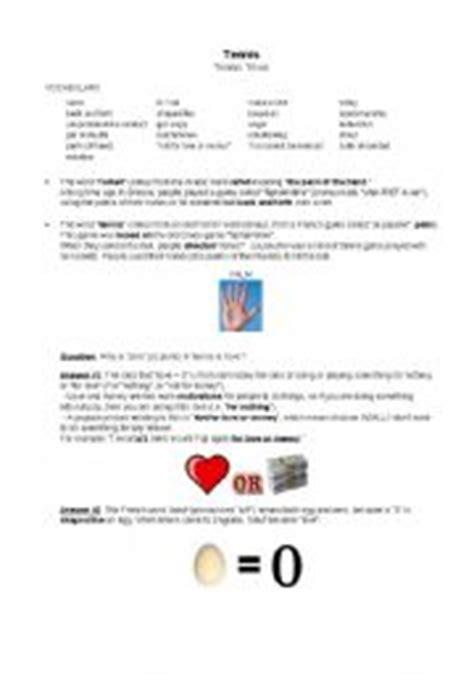 printable tennis quiz english teaching worksheets tennis