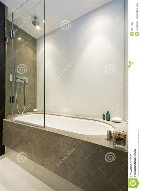 luxury bathtubs and showers large luxury bath with shower attachment stock image