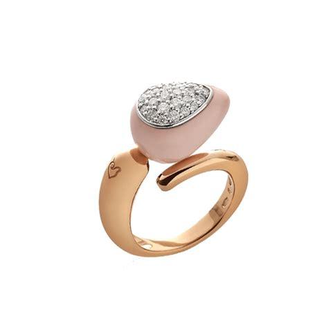 anello contrari 195 168 con goccia singola piccola in corallo