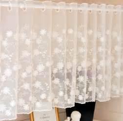 White Lace Kitchen Curtains 150x45cm White Lace Curtain Cabinet Kitchen Curtain Flower Sheer Curtain Jpg