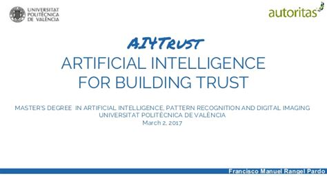 pattern recognition problems in artificial intelligence al4trust artificial intelligence for building trust