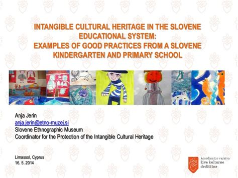 slovenia education intangible cultural heritage in the