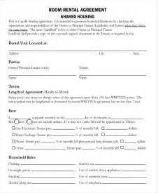 room rental lease agreement template room rental agreement template 6 free word pdf free