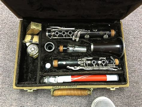 Clarinet Leblanc Eb Wood Classic leblanc 2l7 wooden clarinet with original 1978 reverb