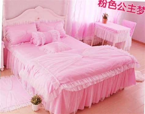 Bed Cover Wedding Pnik Import Popular Ruffled Bedding Set Buy Cheap Ruffled Bedding Set
