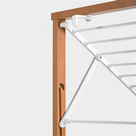 Wall Mounted Drying Racks by Wall Mounted Wooden Laundry Drying Rack