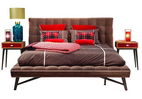lit en coton avec t 234 te capitonn 233 e profile