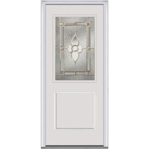 Half Lite Interior Door Milliken Millwork 33 5 In X 81 75 In Unfinished Pine Half Louver 1 Panel Single Interior Door