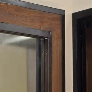 miroir de d 233 coration en bois teck massif et m 233 tal