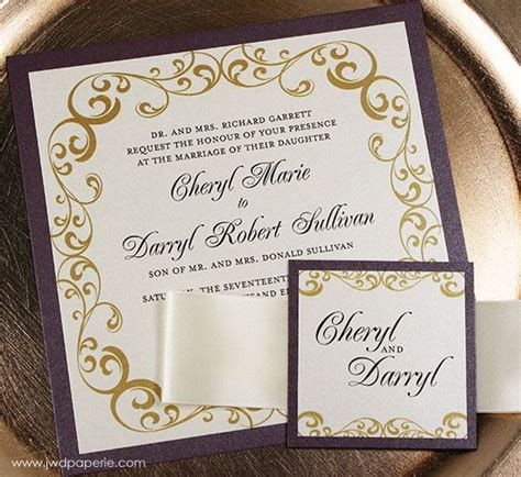 wedding invitations wellington wedding invitation eggplant gold wedding invitation wellington wedding invitation suite ribbon