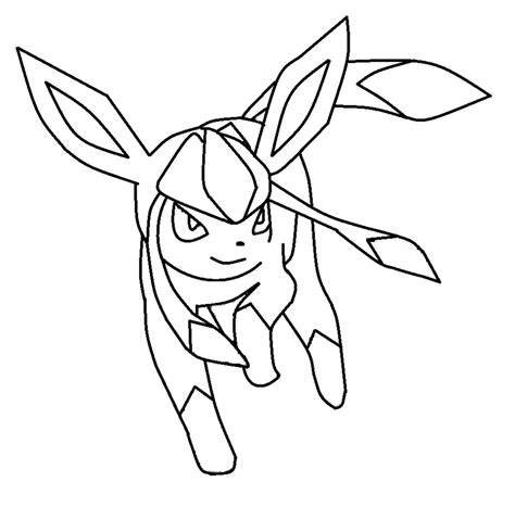 pokemon coloring pages glaceon glaceon template by shadowxmephiles on deviantart