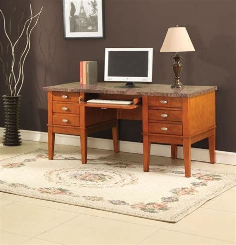 Home Office Desk Marble Top Marble Top Office Desk Contemporary Desks And Hutches