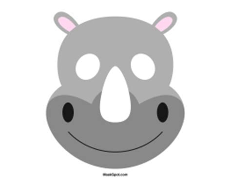 printable rhino mask rhino mask templates including a coloring page version of