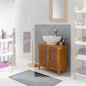 meuble sous lavabo pas cher en bois blanc ou laqu 233