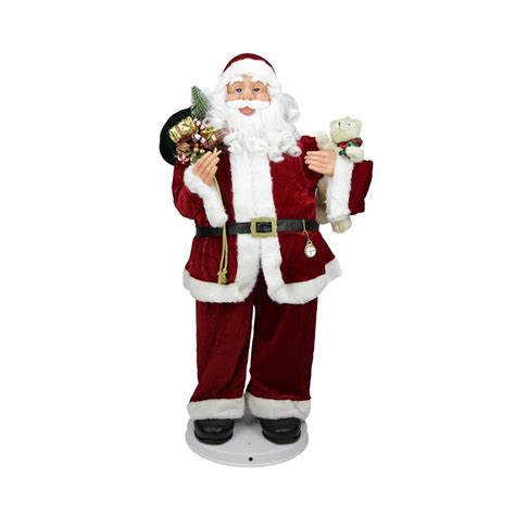 4 deluxe animated and musical decorative dancing santa