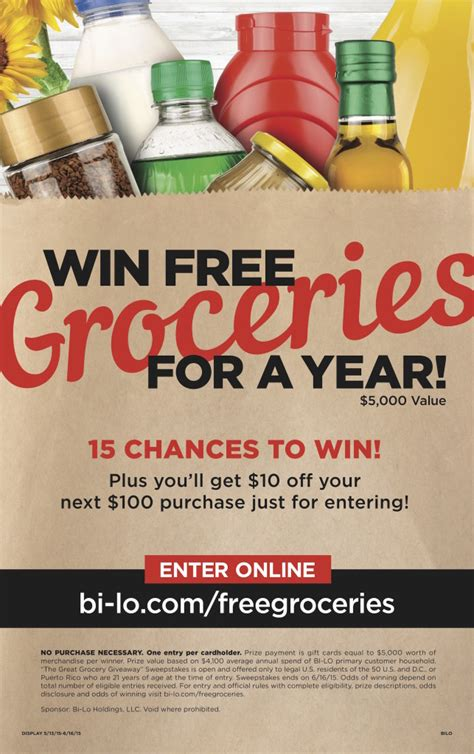 Bi Lo Gift Cards - win groceries for a year in the great grocery giveaway from bi lo 50 gift card