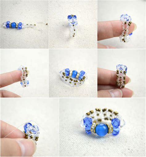 how to make jewelry rings diy bow rings for mothers day out of seed and glass