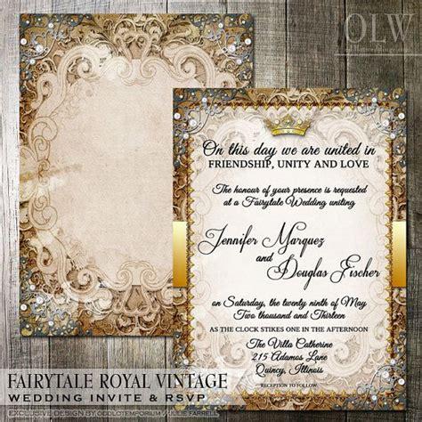 Princess Theme Wedding Invitations by Best 25 Fairytale Wedding Invitations Ideas On