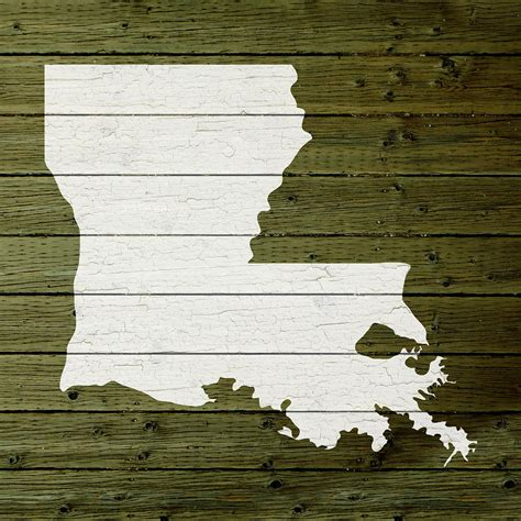 louisiana map decor map of louisiana state outline white distressed paint on
