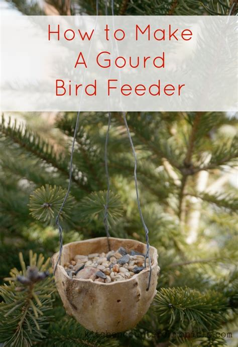 how to make a gourd bird feeder