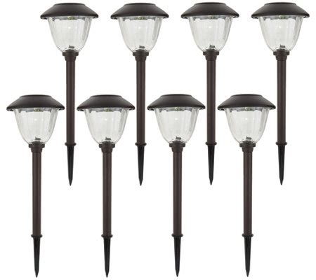 solar landscape lighting qvc energizer 8 solar landscape light set page 1 qvc
