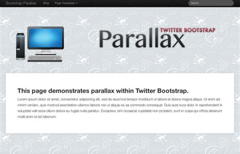templates bootstrap parallax collection of free twitter bootstrap templates and themes