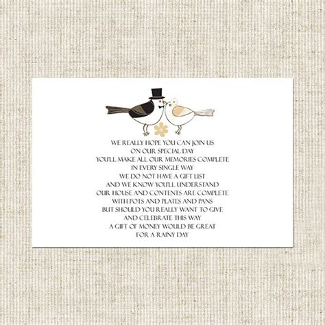 Wedding Invitation Card Poems by Wedding Pecking Birds Gift Poem Card Wedding Stationery