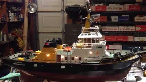 tug boat lights lighting test for rc tugboat karl of hamburg
