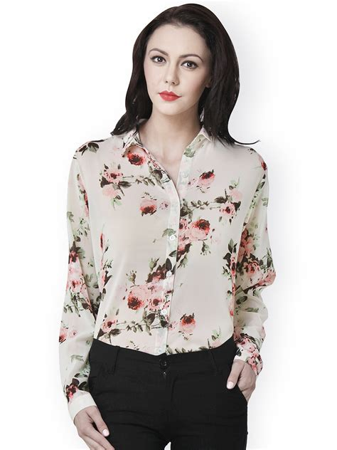 design a shirt online india buy beige floral printed shirt online in india at cooliyo