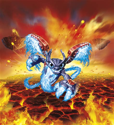 printable heroes fire giant skylanders superchargers characters giant bomb