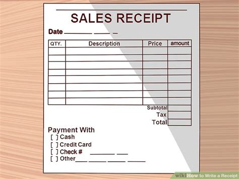 buy receipt template how to write a receipt 9 steps with pictures wikihow