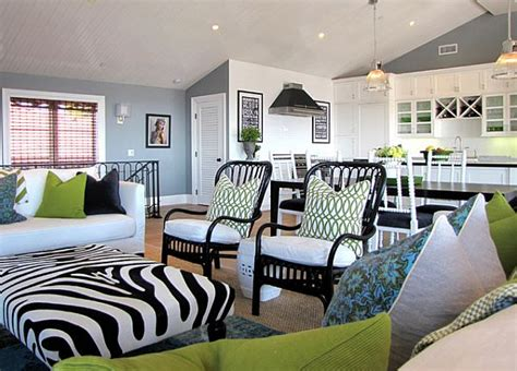 black and green living room how to mix patterns appropriately
