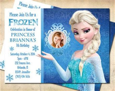 free dyi photo frozen bday invitation templates google