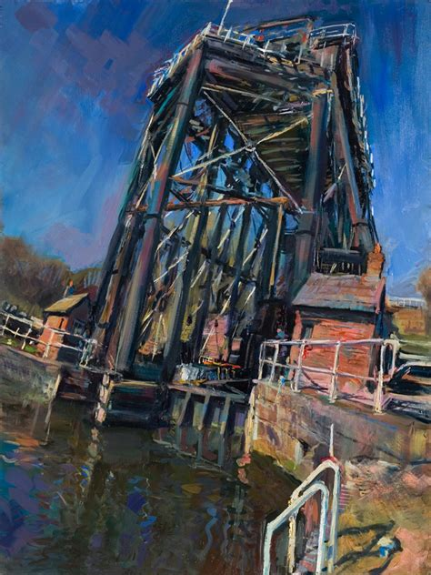 boat lift oil oil painting 7 anderton boat lift rob pointon