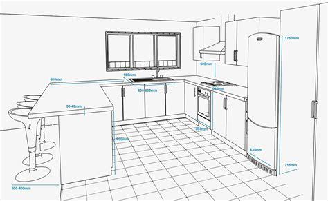 concept plan   kitchen  standard appliance  unit