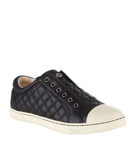 ugg sneaker ugg jemma quilted sneaker in black lyst